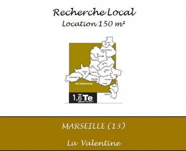 Recherche local 150 m² La valentine