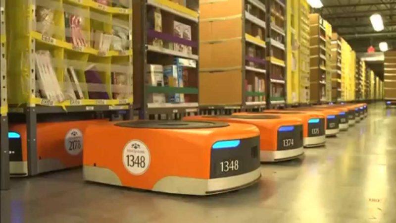 amazon entrepôt robotisé